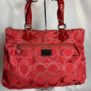 Coach Poppy G1193-17890 Red large hand bag